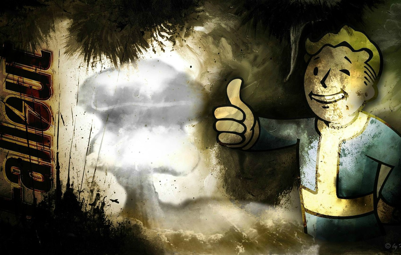 Wallpaper The Game Fallout 3 Vault Boy Computer Images For