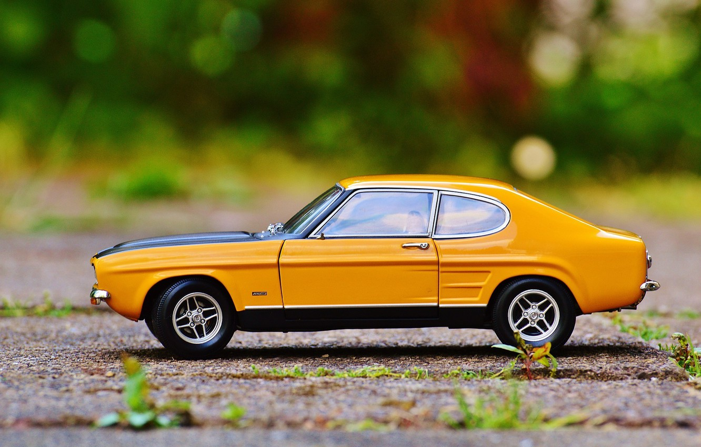 Photo wallpaper auto, toy, car, ford, classic, model, Oldtimer, capri, car model
