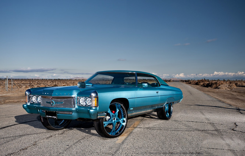 Photo wallpaper Chevrolet, 1971, tuning, Impala, swagger, Cali