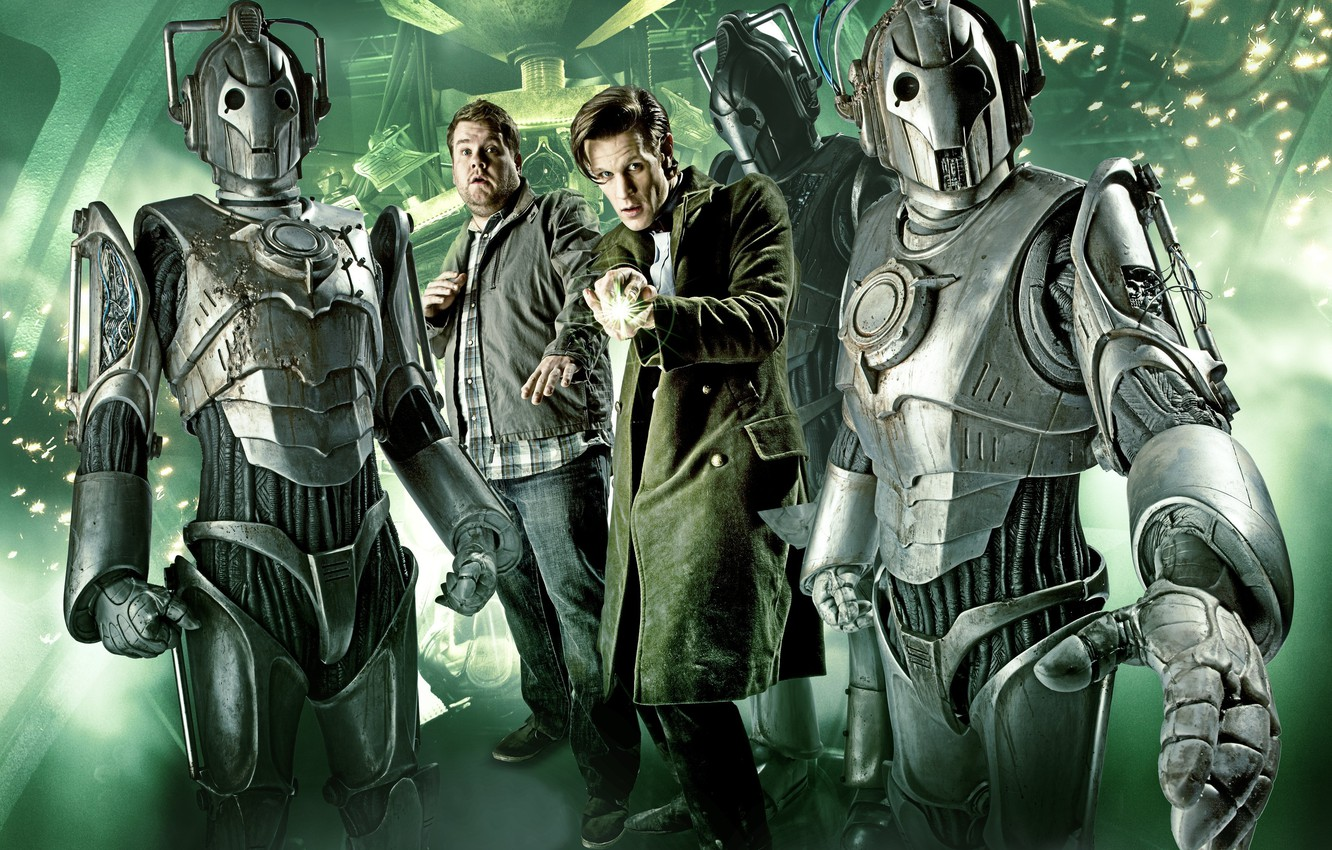 Photo wallpaper cyborgs, Doctor Who, series, Doctor Who, Matt Smith, Matt Smith, The Eleventh Doctor, The Cybermen, …