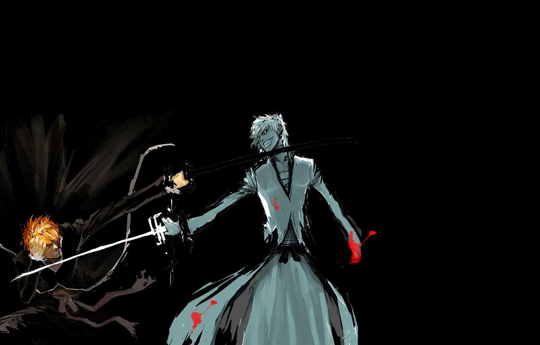 Photo wallpaper fight, anime, the dark side, bleach, Ichigo