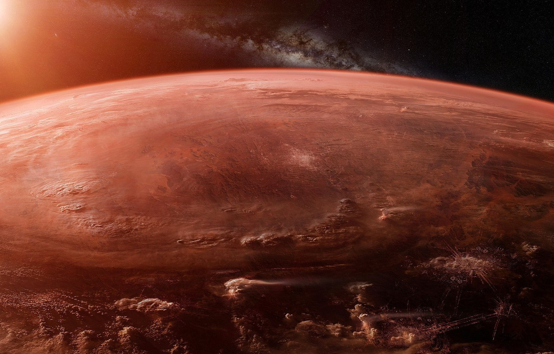 Photo wallpaper space, future, fiction, planet, stars, future, galaxy, space, stars, sci-fi, planet, galaxy, Scott Richard, orbital …