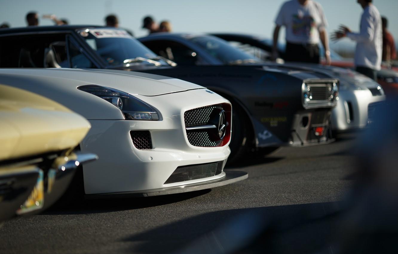 Photo wallpaper Mercedes-Benz, AMG, SLS