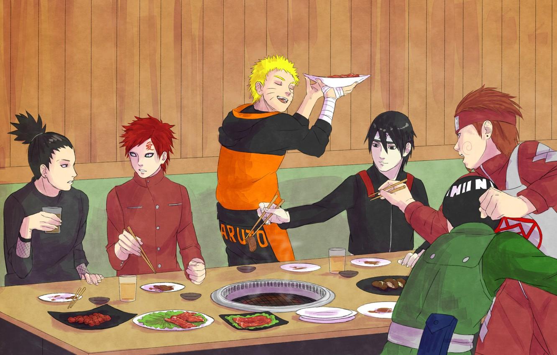 Wallpaper Naruto Art Uzumaki Naruto Shikamaru Sai Gaara Rock