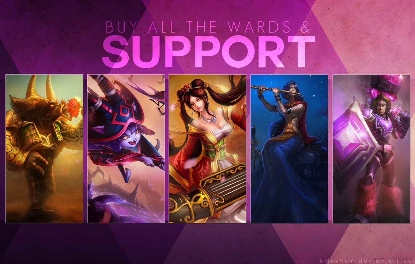 Wallpaper league of legends, support, wards images for