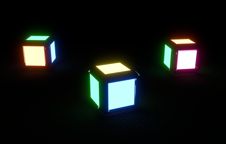 Photo wallpaper color, rendering, minimalism, colors, cube, Cube, cube, render, blender, blender
