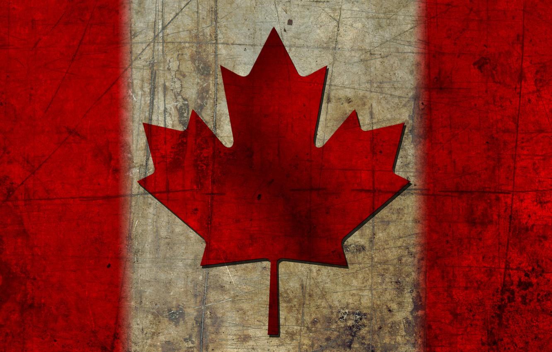 Photo wallpaper flag, Canada, maple leaf, canada, flag