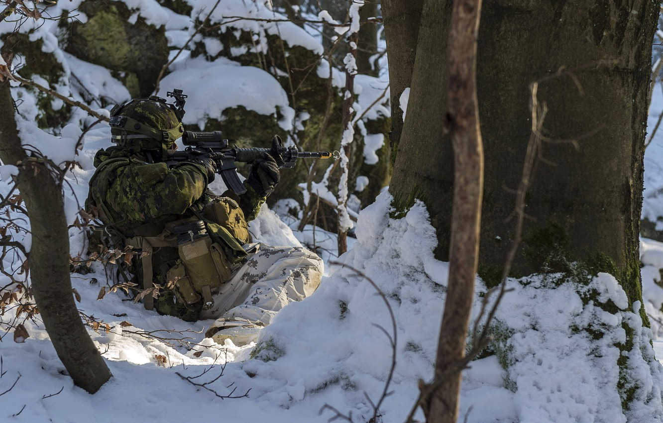 Photo wallpaper weapons, soldiers, Canadian Army