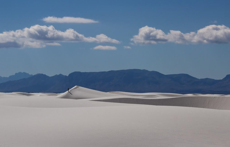 Photo wallpaper landscape, desert, people