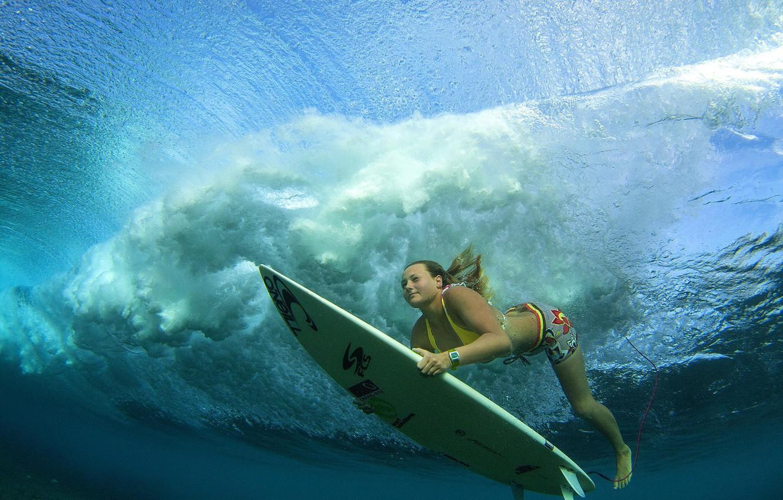 Photo wallpaper surfing, Board, under water, surfer