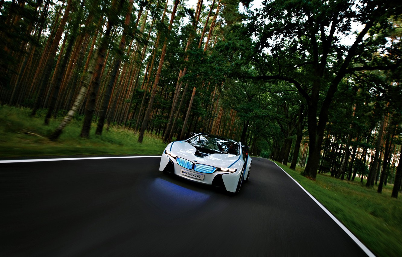 Photo wallpaper Forest, BMW, The concept, Vision