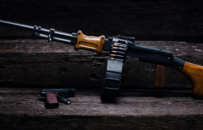 Photo wallpaper gun, weapons, RPD, Degtyareva, Makarova, Machine gun