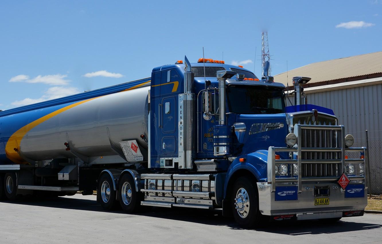 Photo wallpaper blue, kenworth, tank, tanker, w900