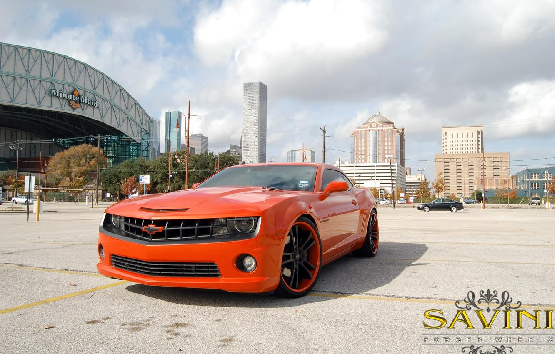 Photo wallpaper Chevrolet, Camaro, Wheels, Savini