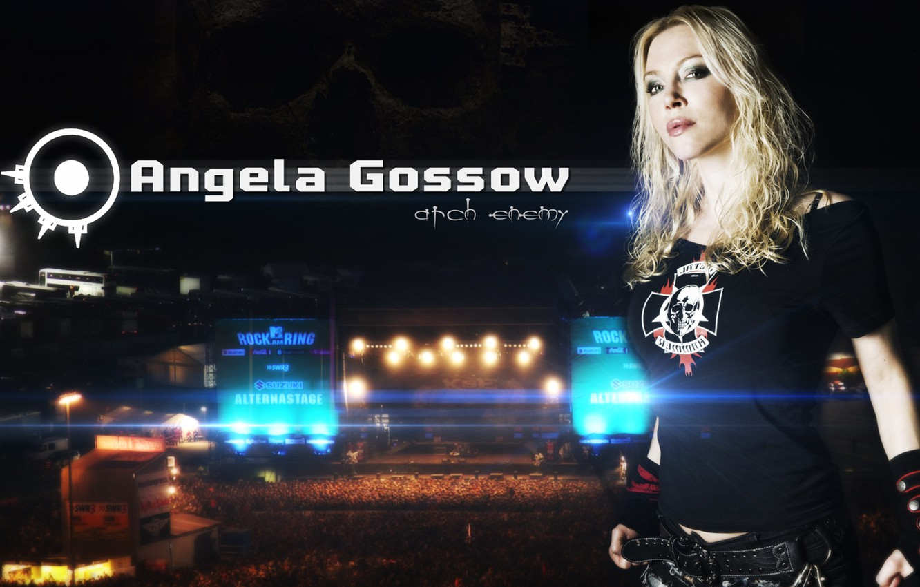 Wallpaper Arch Enemy Angela Gossow Melodic Dead Metal Images For