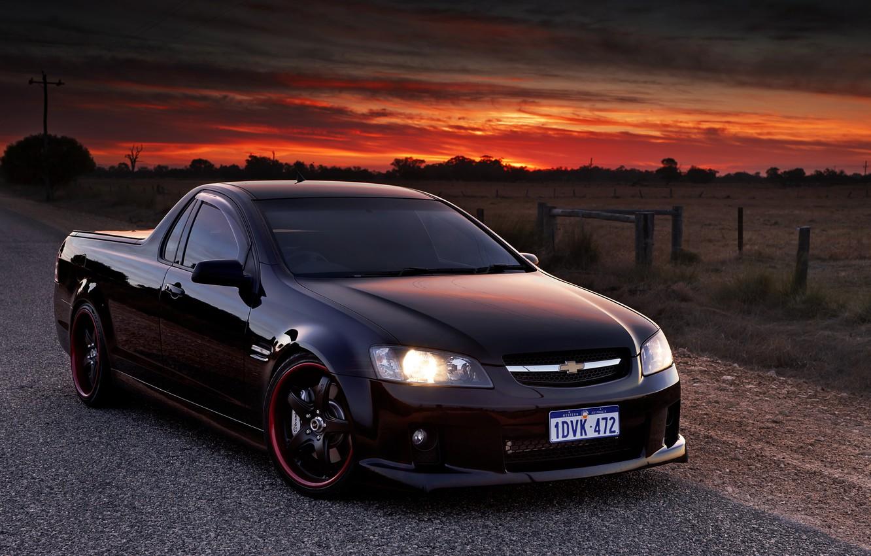 Photo wallpaper the evening, Chevrolet, pickup, chevrolet lumina ss