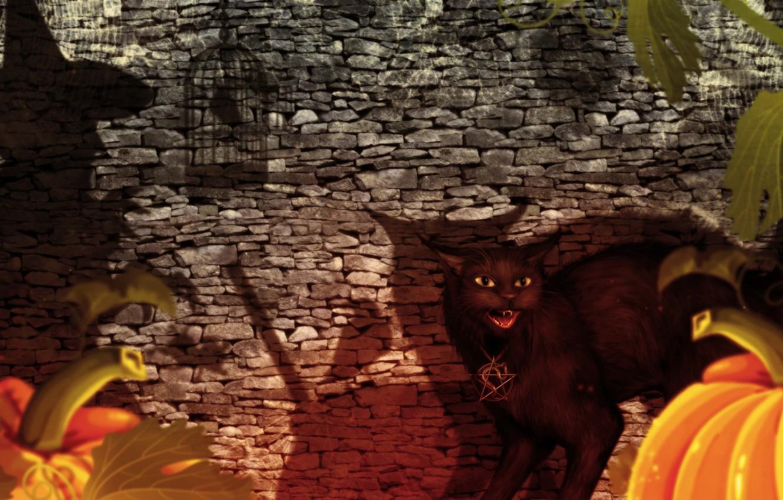 Photo wallpaper Halloween, Fantasy, witch