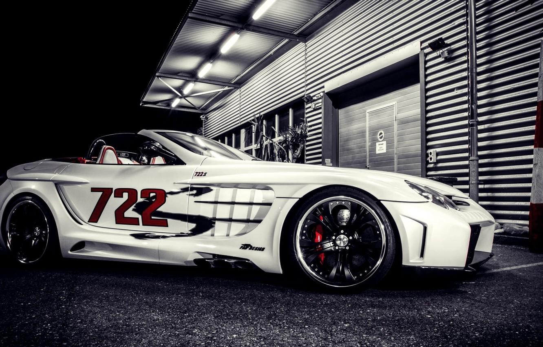 Photo wallpaper night, tuning, supercar, Mercedes, mercedes benz slr mclaren