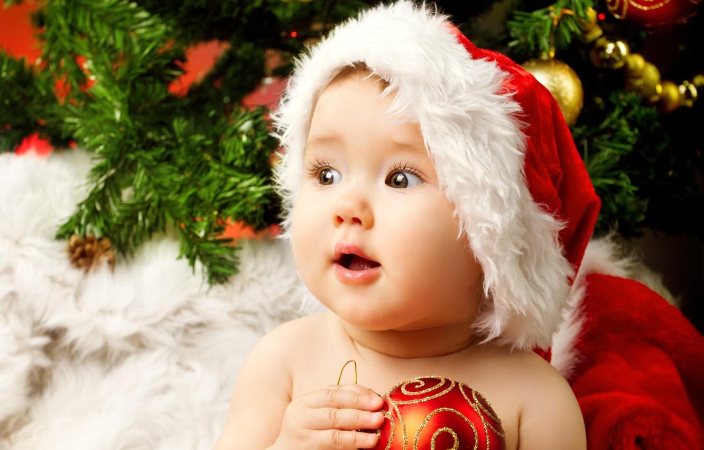 Photo wallpaper children, child, New year, beautiful, new year, happy, beautiful, merry christmas, baby, christmas tree, children, …