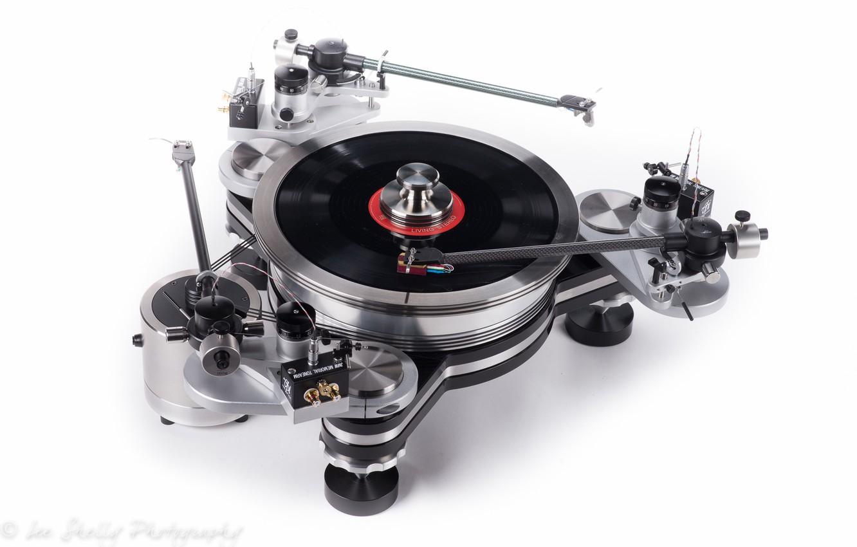 Photo wallpaper music, vinyl, white background, VPI Industries Avenger turntable