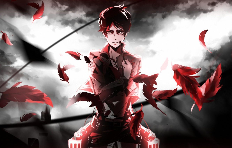 Photo wallpaper anime, Shingeki no Kyojin, eren