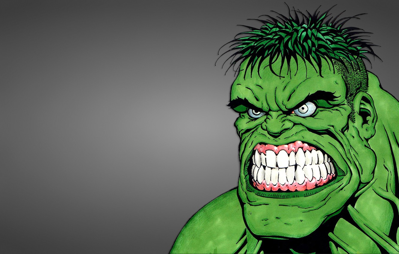 Photo wallpaper green, monster, Hulk, hulk, evil face