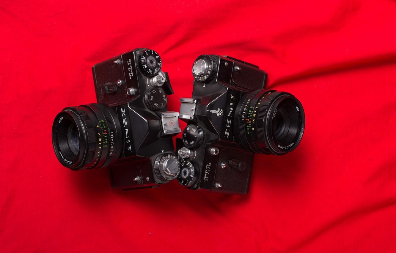 Photo wallpaper macro, background, camera, Black Zenit TTL