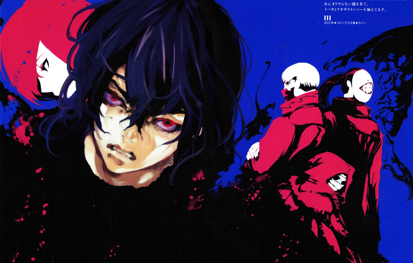 Photo wallpaper monsters, hatred, red eyes, evil eye, Tokyo Ghoul, Noro, obsessed, eater