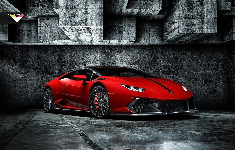 Photo wallpaper Lamborghini, Vorsteiner, the front, Lamborghini, Huracan, Novara Edition