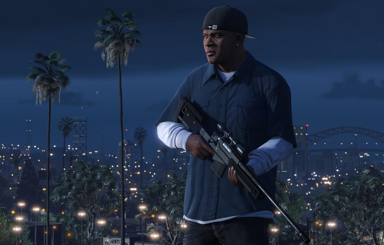 Wallpaper Game Weapons Grand Theft Auto V Gta V Franklin