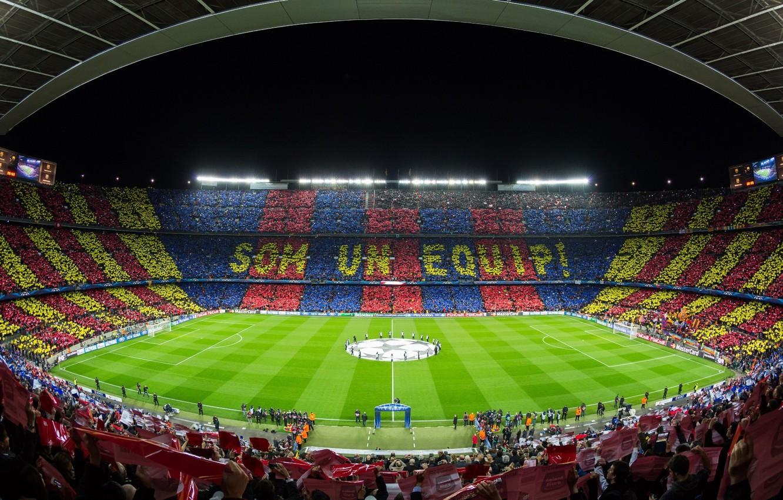 Photo wallpaper Camp Nou, FC Barcelona, Champions League 2012-13, FC Barcelona - AC Milan