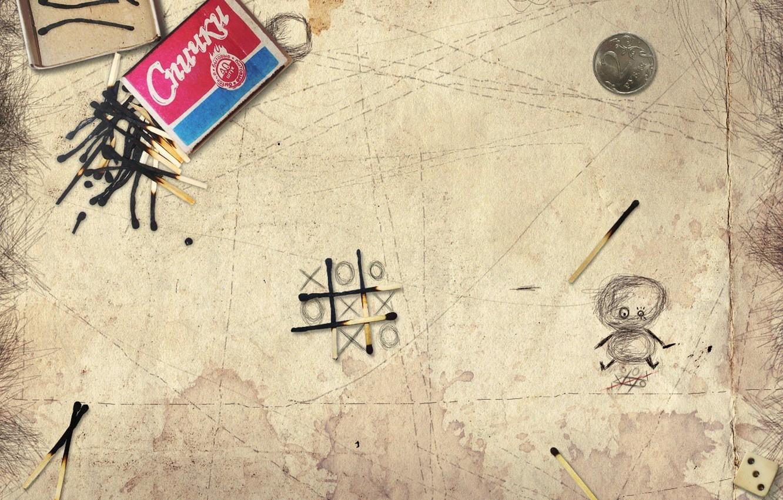 Photo wallpaper creative, table, realism, garbage, mess