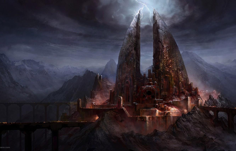 Wallpaper Bridge Castle Zipper Art Gloomy Lord Of The Rings