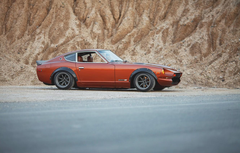 Photo wallpaper sport, orange, datsun, 280z