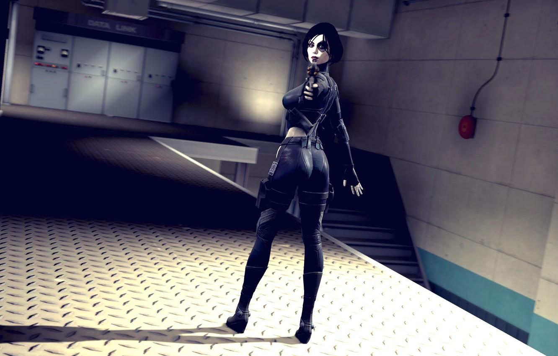 Photo wallpaper girl, mutant, mercenary, marvel comics, Domino, Neena Thurman