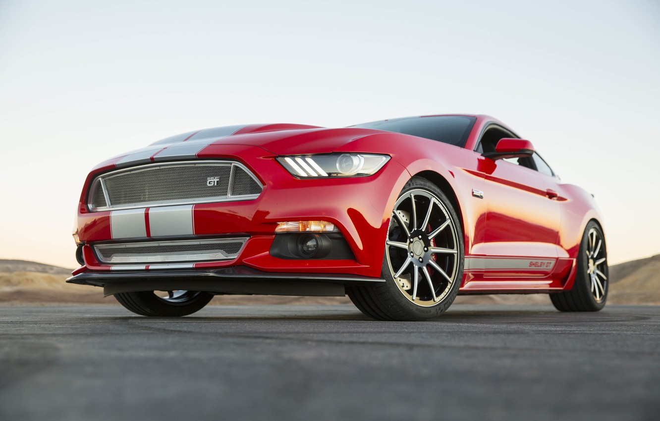 Photo wallpaper Mustang, Ford, Shelby, 2015