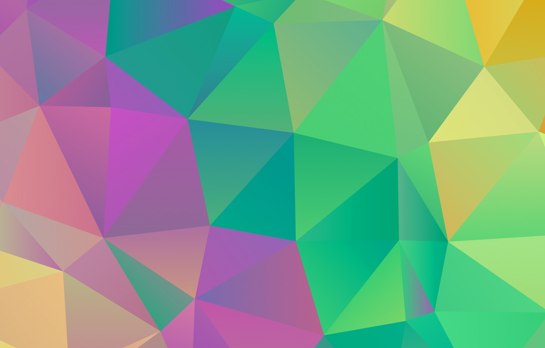 Photo wallpaper line, color, the volume, face, triangle, edge