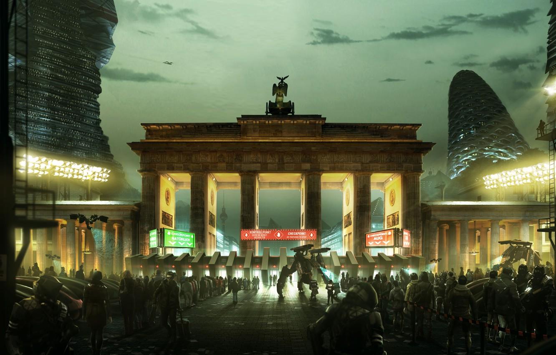 Photo wallpaper Square Enix, Berlin, Deus Ex: Mankind Divided, 2029