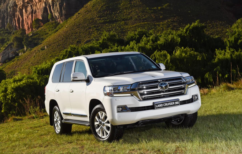 Photo wallpaper white, SUV, Toyota, Toyota, land cruiser, Land Cruiser 200