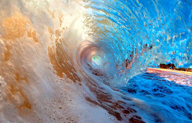 Photo wallpaper sea, shore, wave, surf