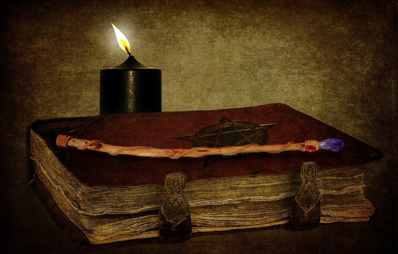 Wallpaper Magic Candle Book Wand Witchcraft The Occult