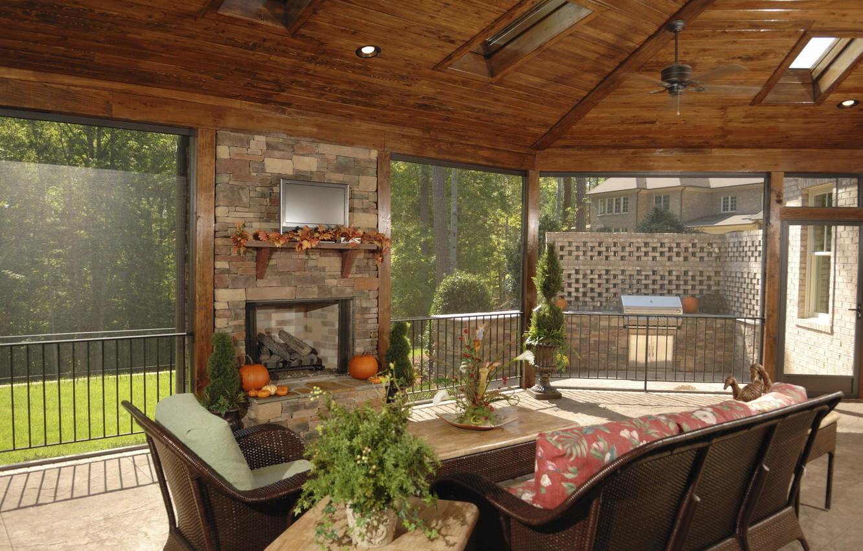 Photo wallpaper flowers, design, sofa, interior, TV, window, the ceiling, fireplace