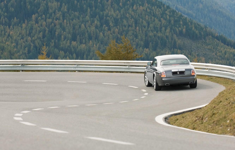 Photo wallpaper road, auto, rolls-royce roads with Machinima