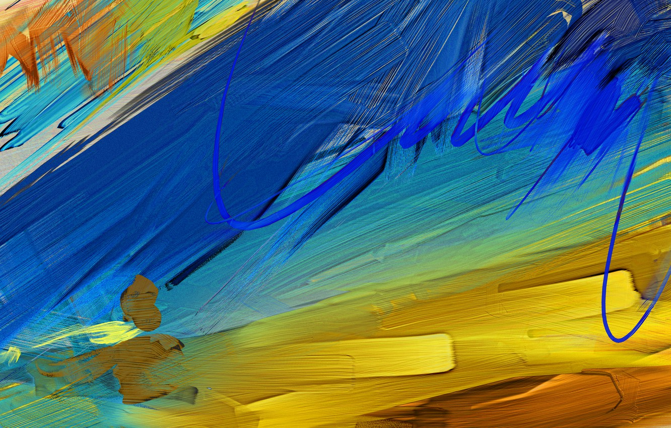 Photo wallpaper paint, different, colors, Strokes, oil