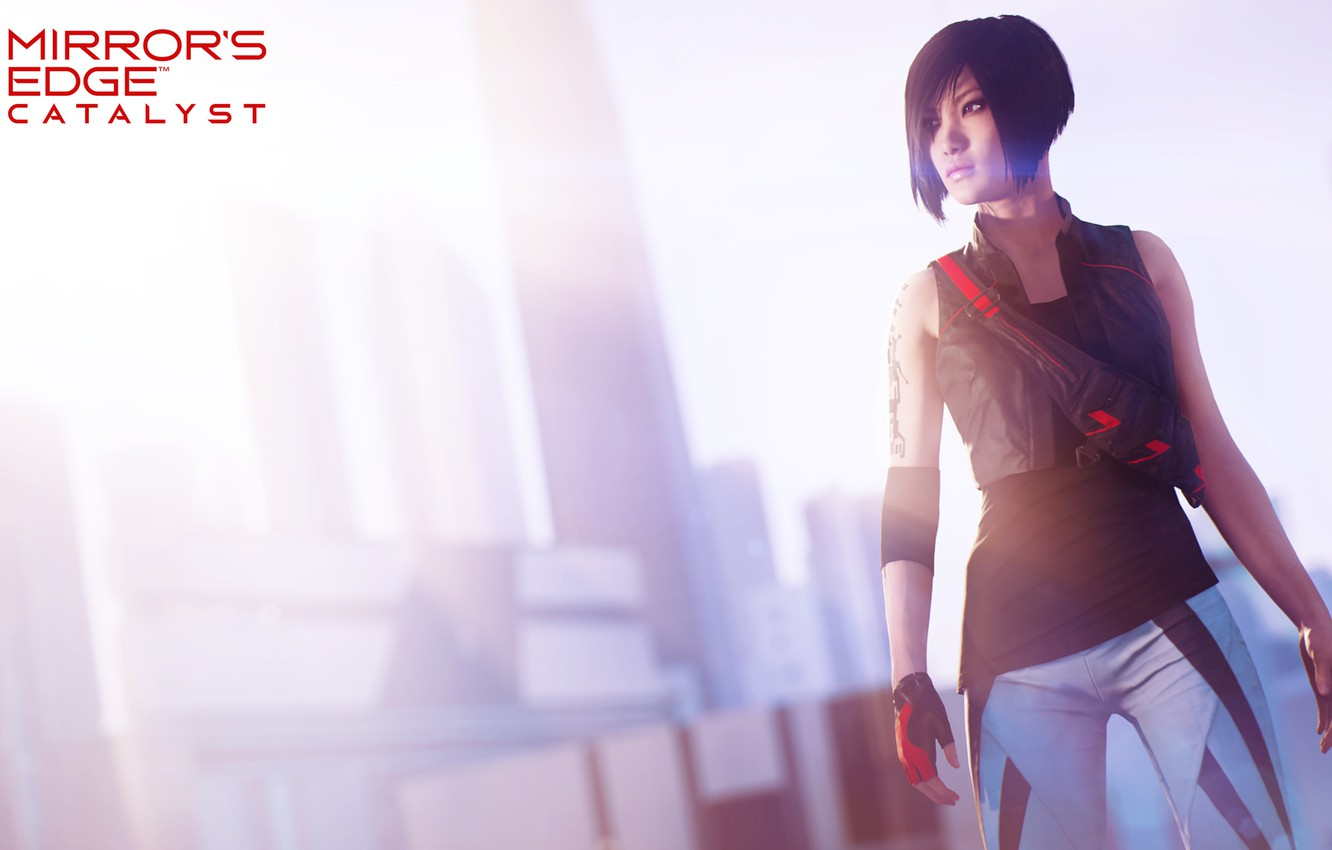 Photo wallpaper girl, the game, parkour, Mirror's Edge: Catalyst