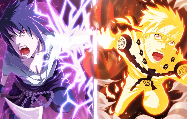 Photo wallpaper Anime, naruto, sasuke