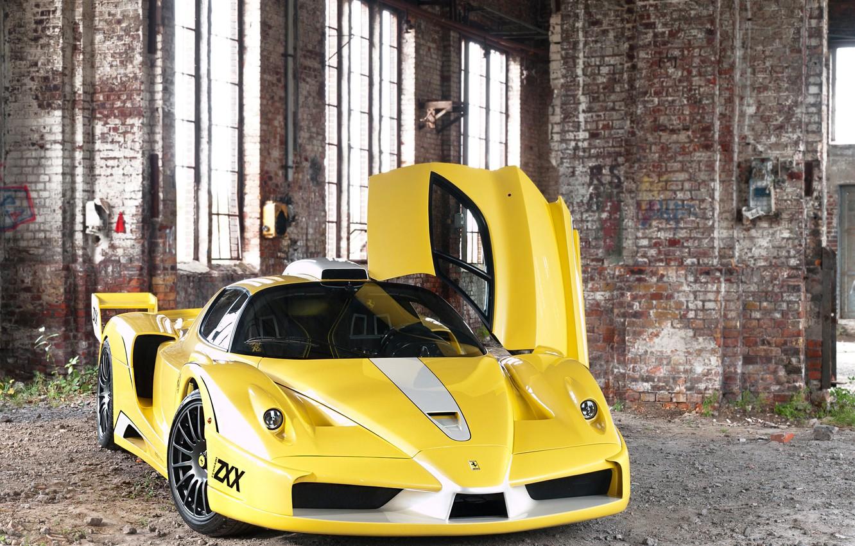 Photo wallpaper Windows, post, the door, front view, Ferrari Enzo, Edo Competition
