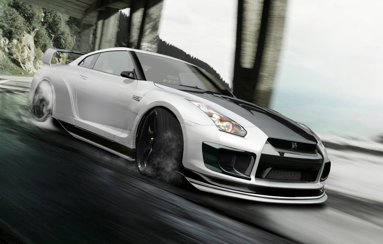 Photo wallpaper Nissan, gt-r, Godzilla, by hoperformance, R35