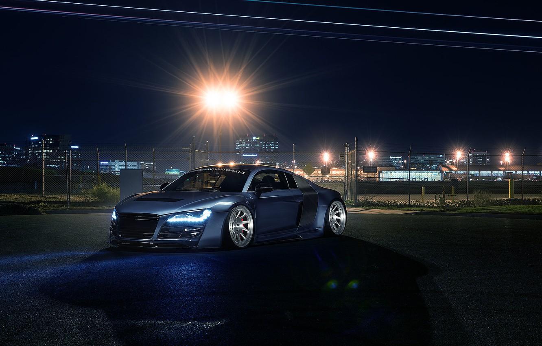 Photo wallpaper Audi, Light, Design, Front, Sportcar, Airport, Prior
