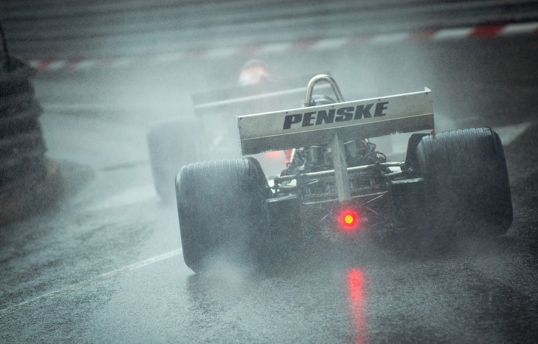 Photo wallpaper Rain, Race, Formula 1, Race, Formula 1, The car, Rain